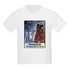 Fight for Liberty Poster Art (Front) Kids T-Shirt