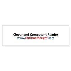 Clever and Competent Reader Sticker (Bumper)