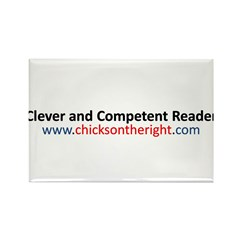 Clever and Competent Reader Rectangle Magnet (10 p