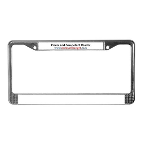 Clever and Competent Reader License Plate Frame