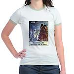 Fight for Liberty Poster Art Jr. Ringer T-Shirt