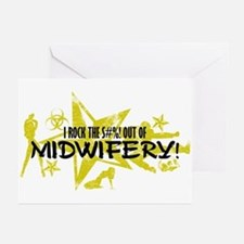 I ROCK THE S#%! - MIDWIFERY Greeting Cards (Pk of