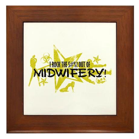I ROCK THE S#%! - MIDWIFERY Framed Tile