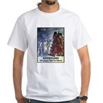 Fight for Liberty Poster Art White T-Shirt