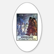 Fight for Liberty Poster Art Oval Decal