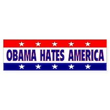 Obama Hates America Bumper Bumper Sticker