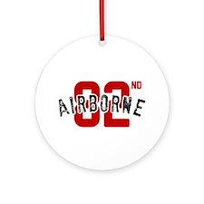 Cute 82 airborne Ornament (Round)