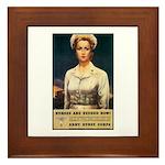 Nurses Needed Now Poster Art Framed Tile