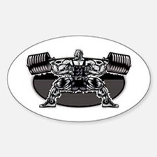 POWERLIFTING SQUAT Oval Decal