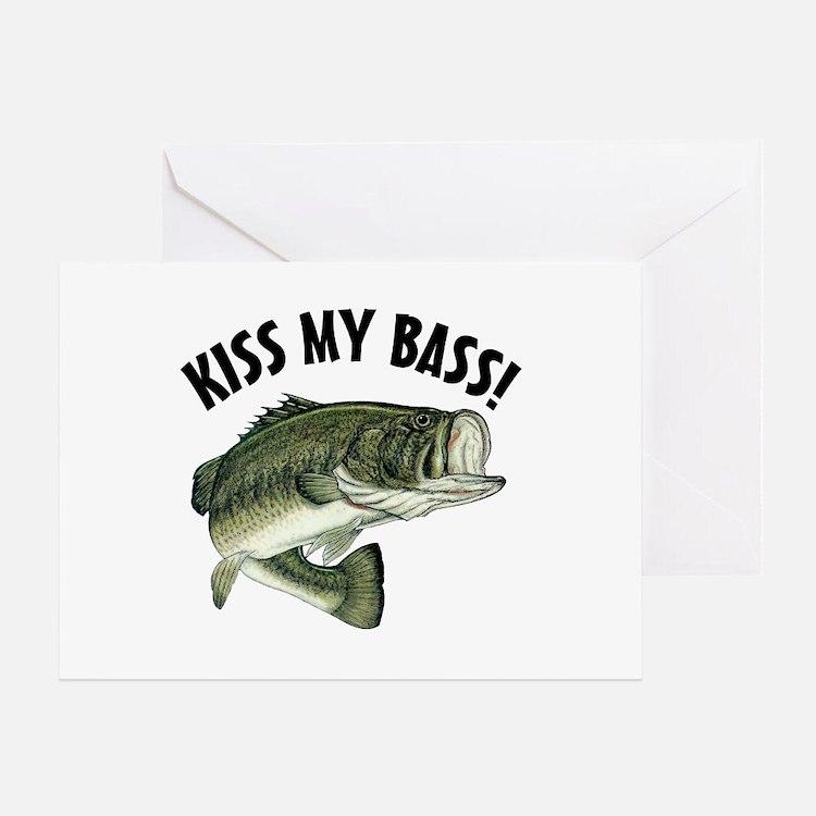 Kiss My Bass Card Greeting Cards