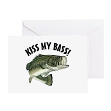 Kiss My Bass Greeting Card