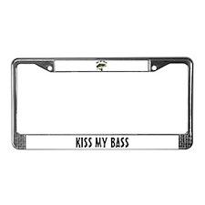 Kiss My Bass License Plate Frame