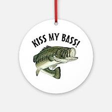 Kiss My Bass Ornament (Round)