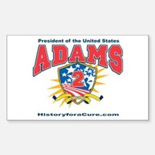 President John Adams Sticker (Rectangle)