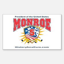 President James Monroe Sticker (Rectangle)