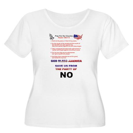 Patriotic Women's Plus Size Scoop Neck T-Shirt