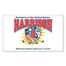 President William H Harrison Decal