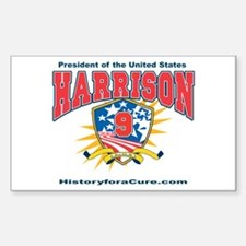 President William H Harrison Decal