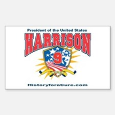 President William H Harrison Sticker (Rectangle)