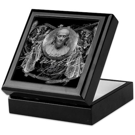 Ben Franklin, Revolutionary H Keepsake Box