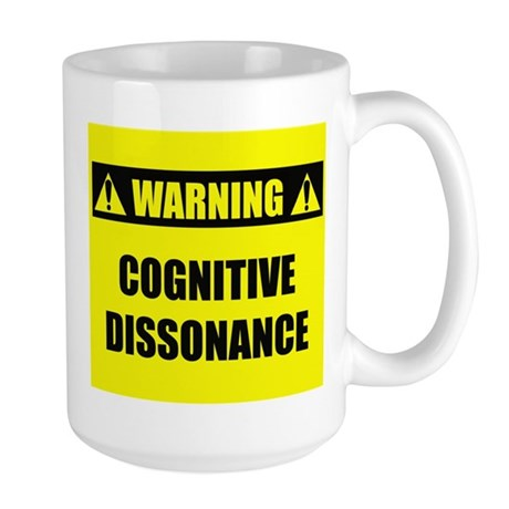 WARNING: Cognitive Dissonance Large Mug