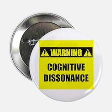 "WARNING: Cognitive Dissonance 2.25"" Button"