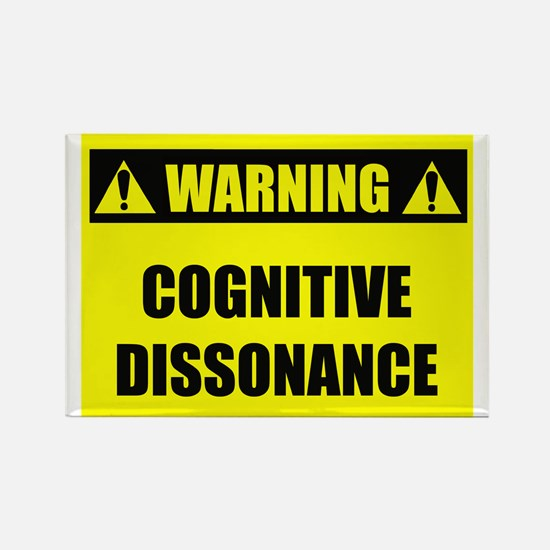 WARNING: Cognitive Dissonance Rectangle Magnet