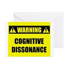 WARNING: Cognitive Dissonance Greeting Card