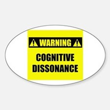 WARNING: Cognitive Dissonance Decal