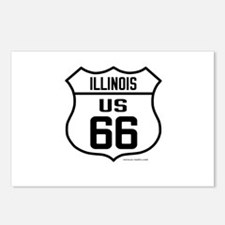 Cute Route 66 illinois Postcards (Package of 8)