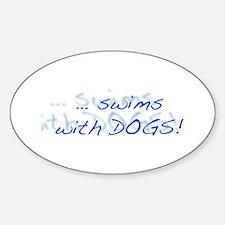 LD Swim Club 1 Sticker (Oval)