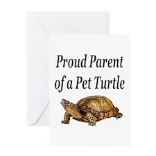 Cute I love turtles Greeting Card