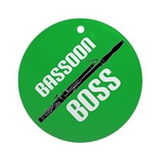 Funny Bassoon Boss Music Ornament