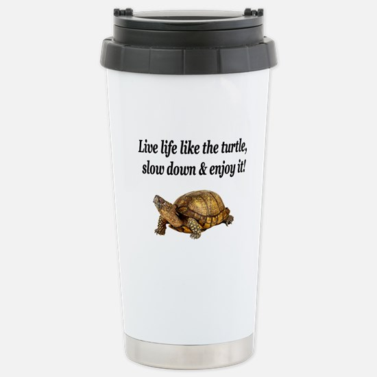 LOVE A TURTLE Stainless Steel Travel Mug
