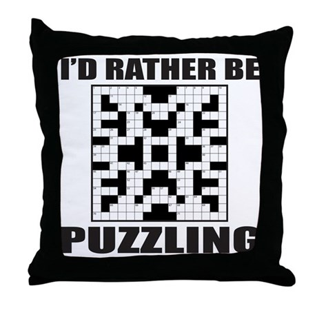 Decorative Pillow Cover Crossword Clue : CROSSWORD Throw Pillow by frankdeloach