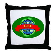 FTF GREEN OVAL Throw Pillow