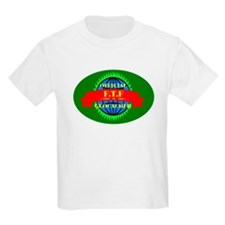 FTF GREEN OVAL Kids T-Shirt