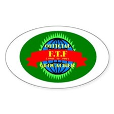 FTF GREEN OVAL Oval Decal
