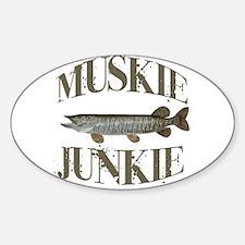 MUSKIE JUNKIE Sticker (Oval)