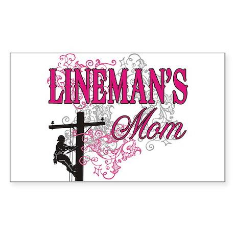 Lineman's Mom Sticker (Rectangle)
