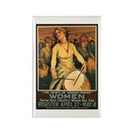 Women Power Poster Art Rectangle Magnet (10 pack)