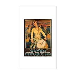 Women Power Poster Art Rectangle Sticker