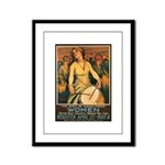 Women Power Poster Art Framed Panel Print