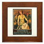 Women Power Poster Art Framed Tile
