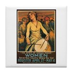 Women Power Poster Art Tile Coaster