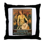Women Power Poster Art Throw Pillow