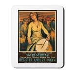 Women Power Poster Art Mousepad