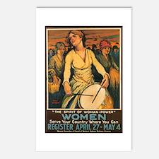 Women Power Poster Art Postcards (Package of 8)