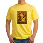Women Power Poster Art (Front) Yellow T-Shirt