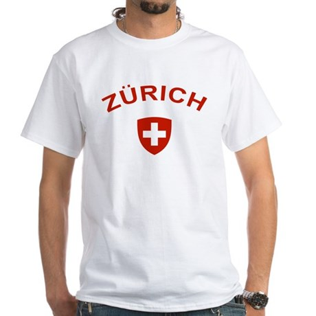 Zurich White T-Shirt